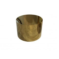 ELEVADOR/FLORERO STAINLESS STEEL GOLD 38 X 26 CM