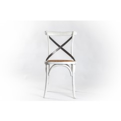 IRON BACK X CHAIR WHITE MARGEAUX